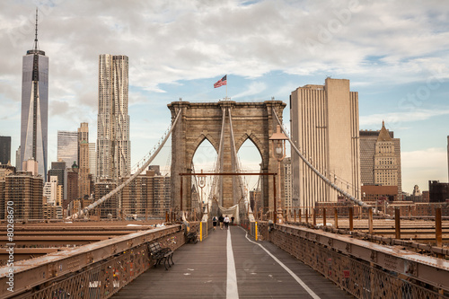 Foto auf Gartenposter Brooklyn Bridge Brooklyn Bridge, New York, USA