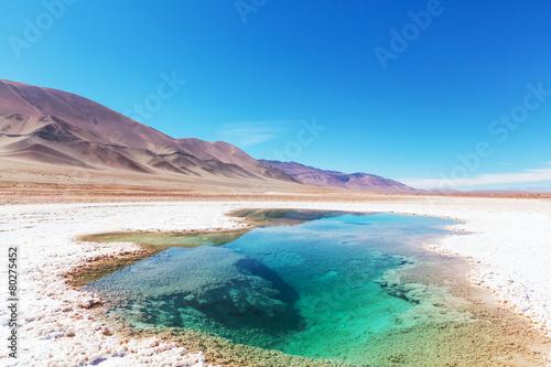 Fotobehang Canarische Eilanden Salinas in Argentina