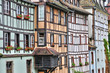 old houses in the district of La Petite France in Strasbourg