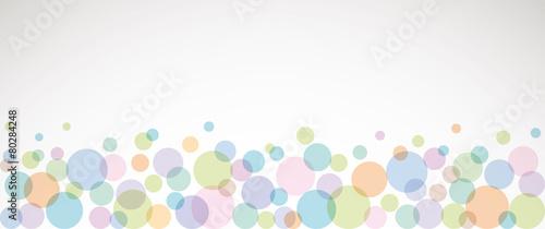 Banner multicolor bolle