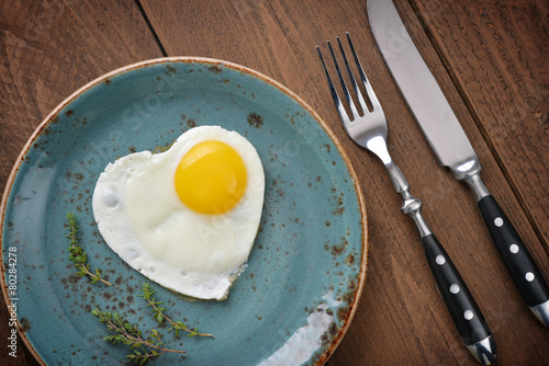 Foto op Canvas Gebakken Eieren Fried egg