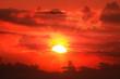 Leinwandbild Motiv beautiful sunset and clouds.