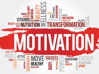 Fototapeta Motywacje MOTIVATION word cloud, fitness, sport, health concept