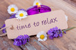 canvas print picture - Time to relax mit duftendem Lavendel