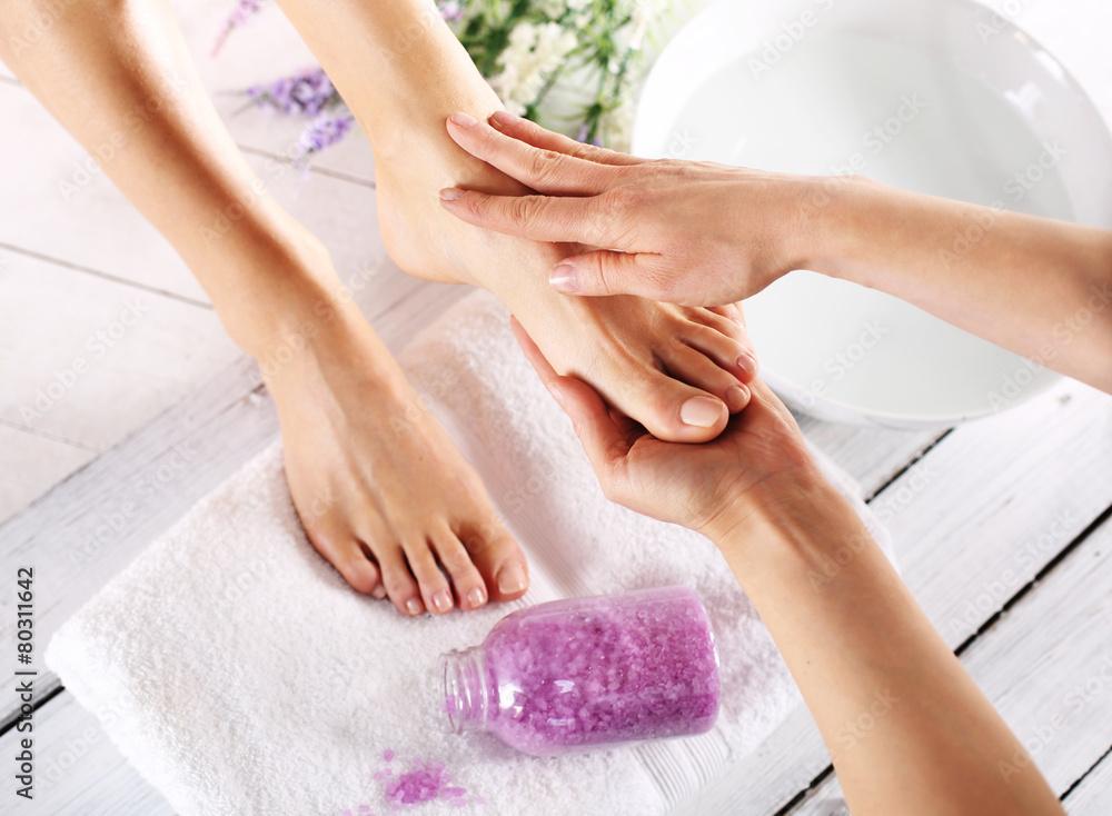Fototapeta Spa dla stóp, masaż i pielęgnacja