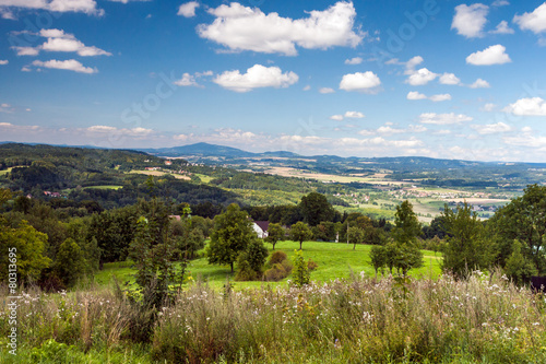 Beautiful summer mountain landscape in the Czech Republic Poster