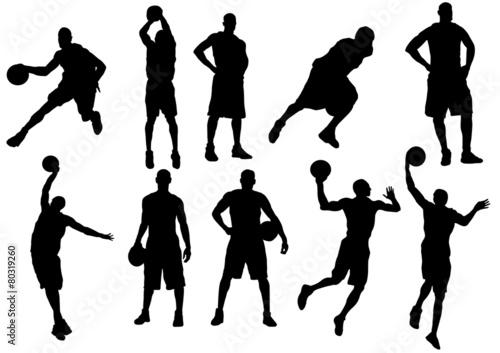 Fotografie, Obraz  Basketball player silhouette