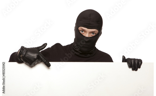 Burglar, ninja isolated Fototapet
