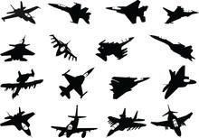 Military Airplane Sillhouete