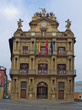 Detail of town hall in spanish city pamplona.