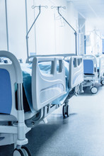 Long Corridor In Hospital With...
