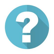 Question Mark Blue Flat Icon A...
