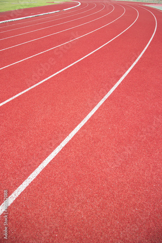 Poster Stadion Running track in stadium.