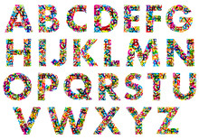 Colorful Upper Case Alphabet Letters