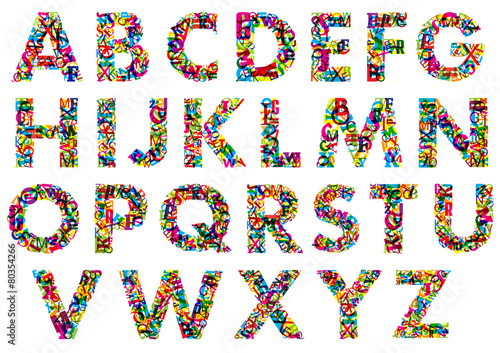 Colorful Upper Case Alphabet Letters