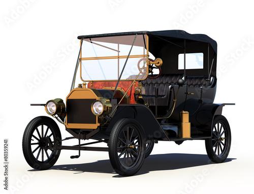 antyczny-samochod-ze-sciezka-przycinajaca