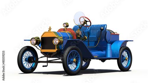 фотография  Antique Car with Clipping Path.