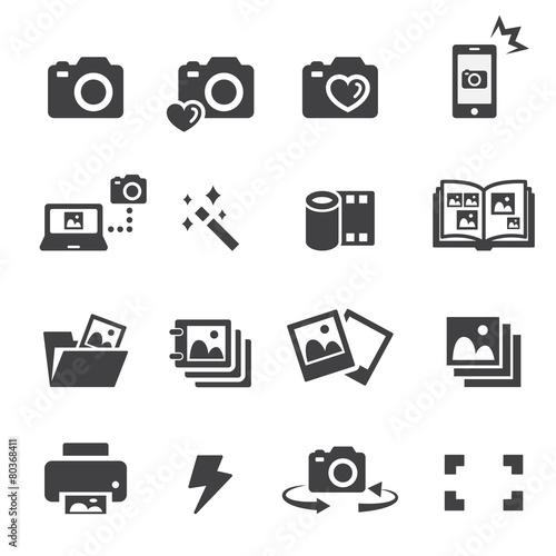 Obraz photo icon set - fototapety do salonu