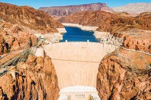 Hoover Dam At Lake Mead