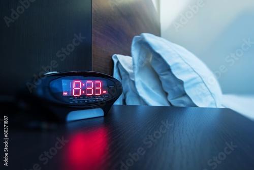 Photo  Hotel Room Alarm Clock