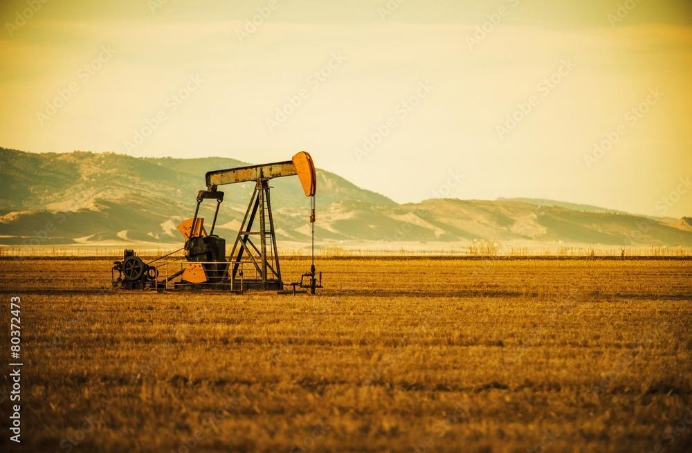 Fototapety, obrazy: Oil Pump on Prairie