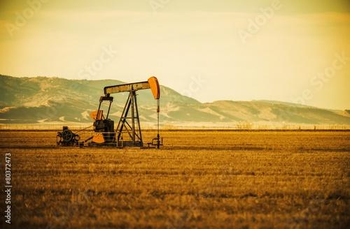 Fototapeta Oil Pump on Prairie obraz
