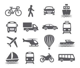 Fototapeta Transport icons