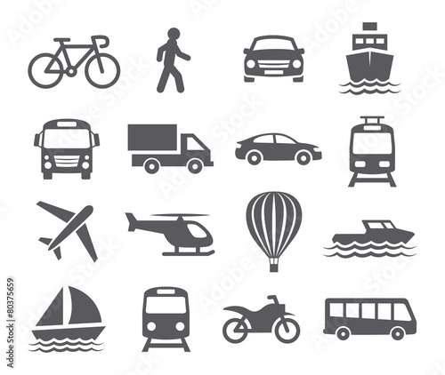 Fotografía  Transport icons