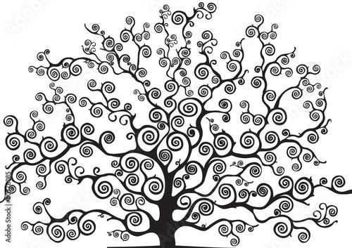 Fotografija albero con rami curvi