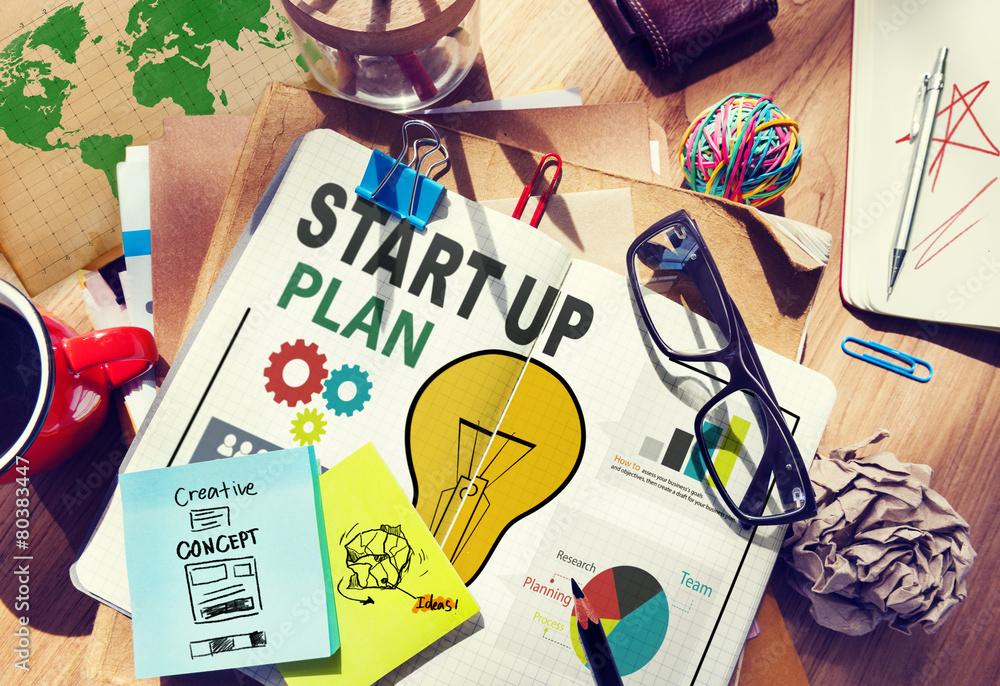 Fototapety, obrazy: Start Up Launch Business Ideas Plan Creativity Concept