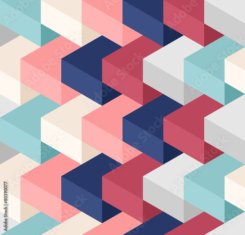 Color cubes seamless pattern