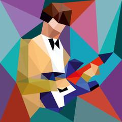 Fototapetajazz. musician and guitar