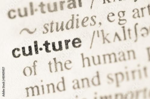 Fotografia Dictionary definition of word culture