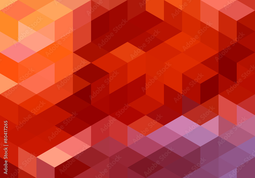 Fototapeta abstract red geometric background, vector