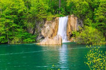 Fototapeta na wymiar Waterfalls in Plitvice
