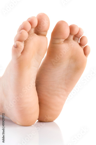 Fotografie, Obraz  Asian child foot. Studio shot.
