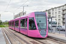 Pink Tram In Reims