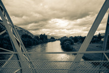 Clutha River, Overcast Sky Old...