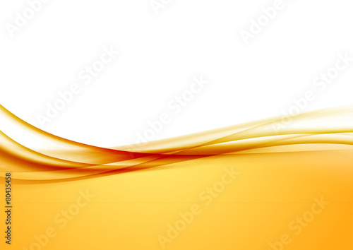 Obraz Abstract orange swoosh satin wave line border - fototapety do salonu