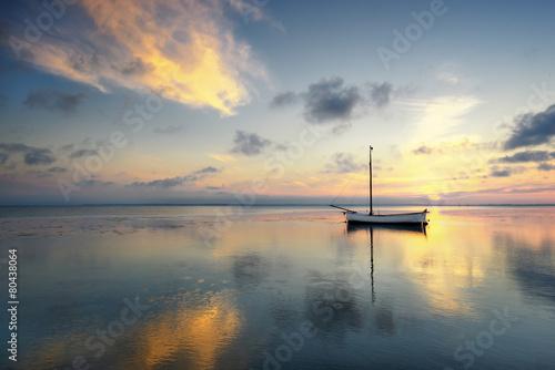 Fotobehang - Morze Bałtyckie,  zachód słońca