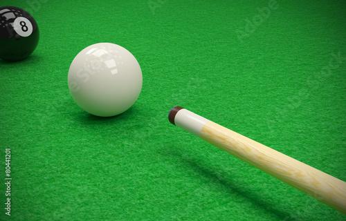 Fotografie, Tablou  billiard table