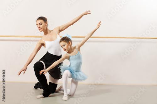 fototapeta na szkło Balet klasy w studio
