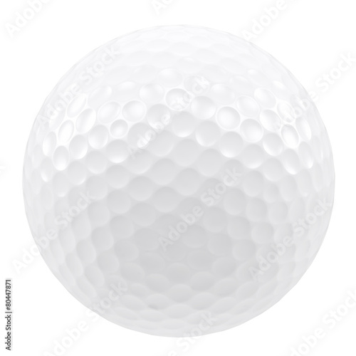 Valokuva Golf ball isolated on a white background. 3d illustration