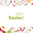 Easter Eggs frame with Happy Easter text