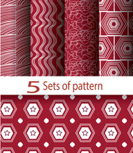 Pattern Red And White