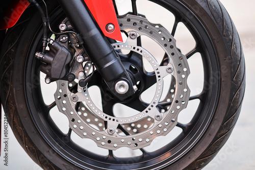Keuken foto achterwand Retro Wheel of a motorcycle