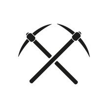 The Pick Icon. Pickax Symbol. ...