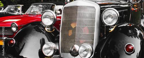 Keuken foto achterwand Vintage cars Retro Car fragment