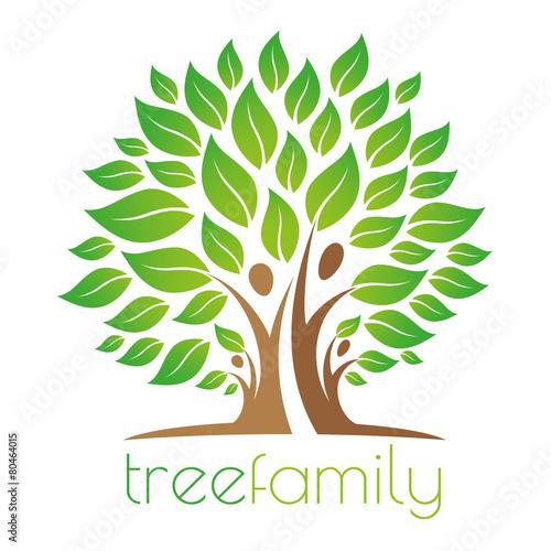 Fotografie, Obraz  Tree family logo