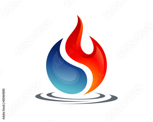 Yin Yang Of Fire And Water Buy This Stock Vector And Explore Similar Vectors At Adobe Stock Adobe Stock